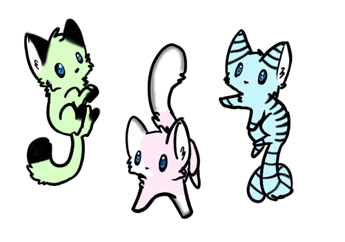 Kitty Adoptables -OPEN- ABIERTO by MonsterBonnie