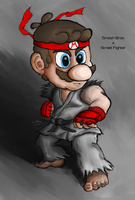 Mario as Ryu by D-Balut