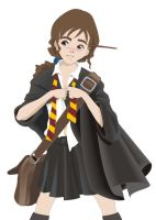 Hermione buttoning-up 2 by yethro