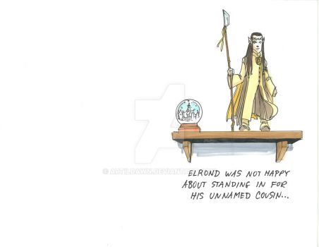 2017 Holiday cards - Elrond on a shelf by artildawn