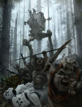 Savage Ewoks... by chrisscalf