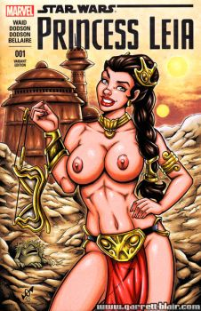 Naughty Slave Leia sketch cover by gb2k