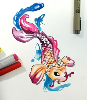327- Koi Commission by Lucky978