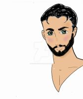 Handsome Youth bearded by Wasted-Effort