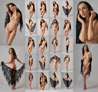 New Model: Anoush Anou Nudes with Lace Scarf Stock by ArtReferenceSource