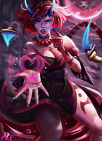 Blood Moon Evelynn (League of Legends) by MiraiHikariArt