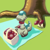 Oedipus the Cranidos having a picnic
