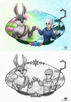 Easter and Winter Bros by DolphyDolphiana