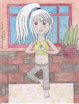 Yoga Session. by BunnymundLover4ever1