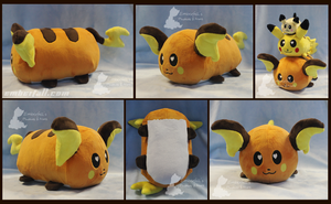 12in Raichu Loaf by EmberfallPlush