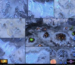Starcraft II: Ice Environment Assets 2013 by cg-sammu