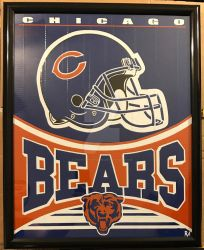 Chicago Bears Duct Tape Art  by DuctTapeDesigns