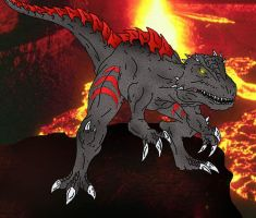 Kaiju: God of the flames by Cyprus-1
