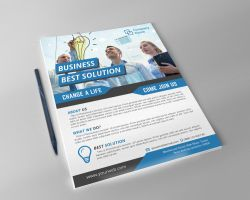 business solution corporate flyer by FAFAEFEL