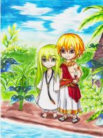 Fate Gilgamesh and Enkidu by 69-KAIT0