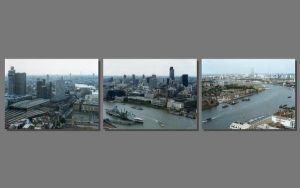 Aerial London Triptych by CitizenJustin