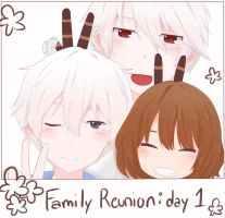 Family Reunion: Day 1 by Meiasaurus-rex