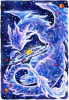 30 Days of Dragons - Day 11 - Cosmic Dragon by SpaceTurtleStudios