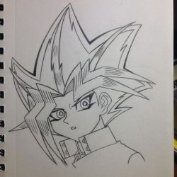 Yami Yugi (Pharaoh Atem) sketch - 1/19/15 by Jestloo