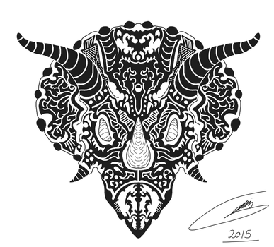 Triceratops shirt design for a client by stevangois