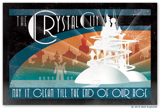 Travel sticker: The Crystal City by MattDrawsRobots