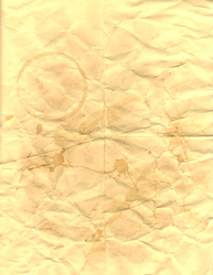 Wrinkled, Dirty, Coffee Stained Paper Texture by MatrixChicken
