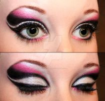Black and pink eyeshadow by Creativemakeup