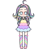 Rainbow Pastel Girl by Rosemoji