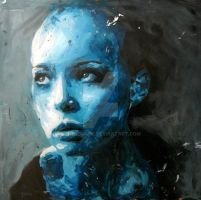 acrylics new blue by liligouane