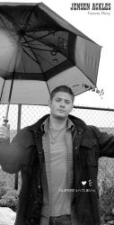Jensen in the Rain by ilovwinchesters