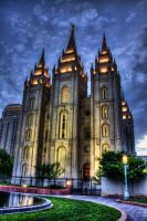 Salt Lake Temple At Sundown By TPextonPhotography