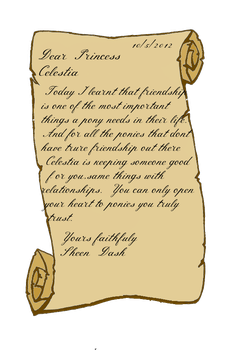 A Letter to Celestia 1.2 by TheDashinPony