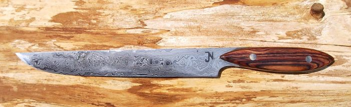 Kitchen knife with Cocobolo handle by Silver11k