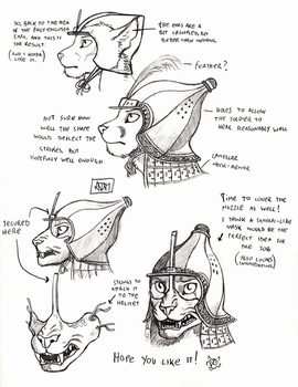 Anthro Helmets Again! Part Two by 0laffson