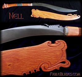 Nell - Tiger themed Panabas (Filipino Sword) by Fableblades