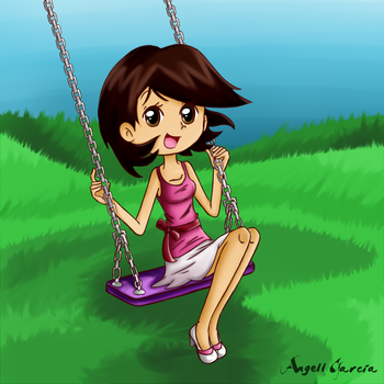 on a swing by angell0o0