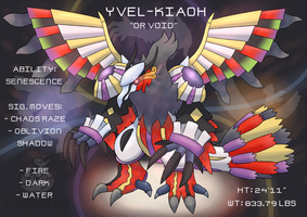 Pokemon Fusion Commission! Yvel-Kiaoh by OzoneFruit