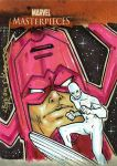 Galactus Surfer Marvel Card by gravyboy