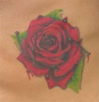 rose tattoo by larryfarley