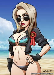 The Dick Show:Chick Masterson Miss Bikini Universe by OutlawOrange