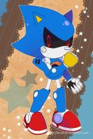 Sonic Postcard - Classic Metal Sonic by Crystal-Ribbon