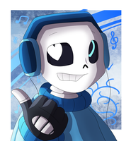 Art Trade - Vocal!Sans by LonicHedgehog