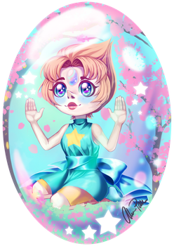 Pearl trapped in her Gem by xaCupofArt