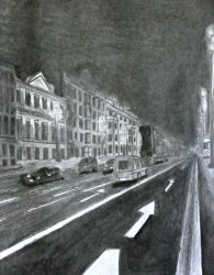 Street at Night by Sel-Diora