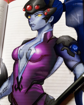 - WIDOWMAKER - Coloured sketch by KuroKurchee