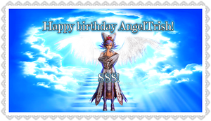 AngelCia, happy birthday, dear angeltrish by TenonSky