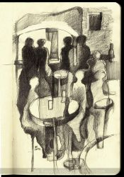 Evening in a pub by ukapala