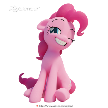 Sitting Pinkie by TheRealDJTHED