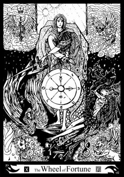 Major Arcana 10 : The Wheel of Fortune by Asfahani