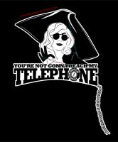 'Telephone' Shirt Design by criminally-VULGAR
